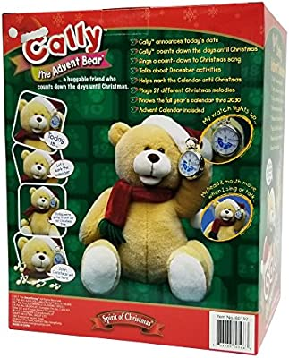 Amazon Com Cally The Advent Bear Count Down Living Advent Calendar Exclusive Talking Bear Toys Games