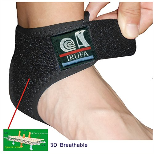 IRUFA, AN-OS-11,3D Breathable Elastic Knit Patented Fabric Adjustable Athletics Achillies Tendon Ankle Wrap, Plantar Fasciitis, Pain Relief for Sprains, Strains, Arthritis and Torn Tendons (L/XL)