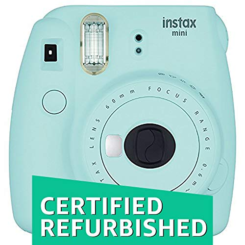 Fujifilm Instax Mini 9 Instant Camera – Ice Blue (Certified Refurbished)