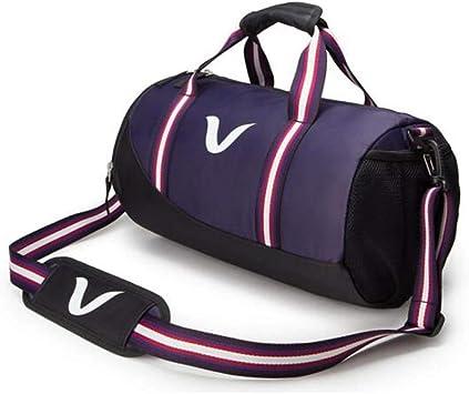 Cylinder Bag Sports Bag Wet and Dry Separation Waterproof Swimming Bag Color : Black Purple Size: 432323cm Large Capacity Gym Bag Men and Women Portable Messenger Bag