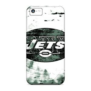 Best Cell-phone Hard Covers For Iphone 5c With Custom Colorful New York Jets Skin AnnaDubois