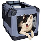 Image of Arf Pets Dog Soft Crate 36 Inch Kennel for Pet Indoor Home & Outdoor Use - Soft Sided 3 Door Folding Travel Carrier with Straps