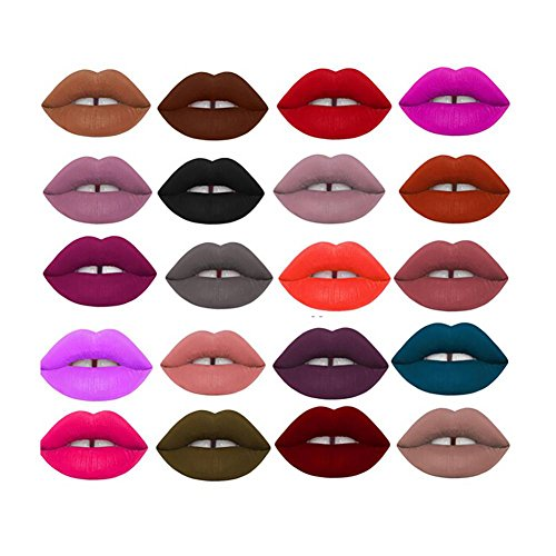 Shouhengda Makeup Waterproof Matte Velvet Liquid Lipstick Long Lasting Lip Gloss 12 Colors Sets