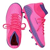 ALEADER Girls Soccer Shoes Cleats High Top Athletic Filed Football Boots for Training