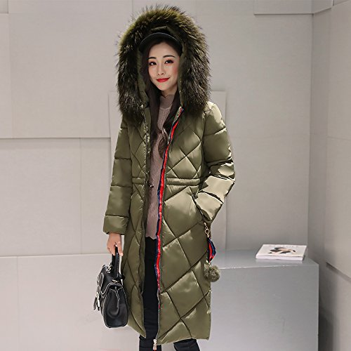 Down FYM Long 2XL Jacket Zipper DYF Green Military Pocket Length Hat Coat COAT Thickened Medium Sleeve SSqrAWnp