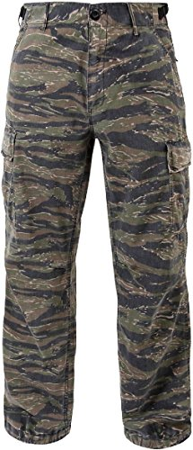 - Tiger Stripe Camouflage Military Rip-Stop Vintage Vietnam Fatigue Pants