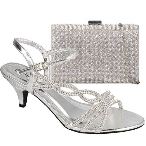 Gorgeous argent Argent Boutique de Absolutely H20322 femme cheville Bride dR0Bq78
