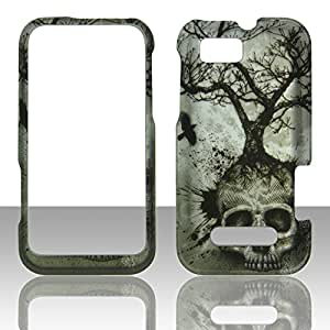 2D Tree Skull Motorola Defy XT XT556 / XT557 Case Cover Phone Snap on Cover Cases Protector Rubberized Frosted Matte Surface Hard Shells