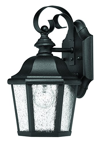 Hinkley 1674BK Traditional One Light Wall Mount from Edgewater collection in Blackfinish, - Edgewater Wall Mount