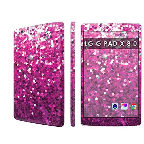 LG G PAD X 8.0 Skin Decal [Matching Wallpaper] - [Pink Glitter Print] for LG G PAD X 8.0 [8