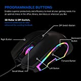 PHILIPS Wired PC Gaming Mouse RGB Spectrum Backlit