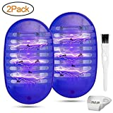 Athemo 2 Pack Plug-in Bug Zapper - Indoor Mosquito Killer with Night Lamp - Electronic Insect Gnat Trap Eliminate Bugs Flying Pests Gnats by Electric Shock