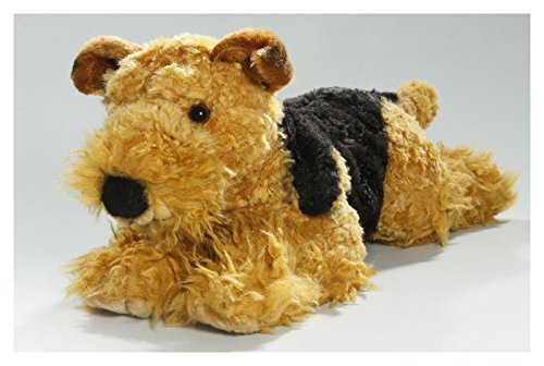 Carl Dick Airedale Terrier Lying 16 inches, 40cm, Plush Toy, Soft Toy, Stuffed Animal 1979 by Carl Dick