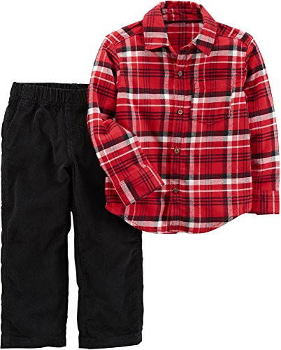 Carter's Baby Boys' 2 Piece Plaid Top And Pants Set 9 (Surplus Corduroy Pants)