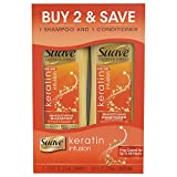 Suave Professionals Smoothing Shampoo and Conditioner, Keratin Infusion, 12.6 oz, (Twin Pack)