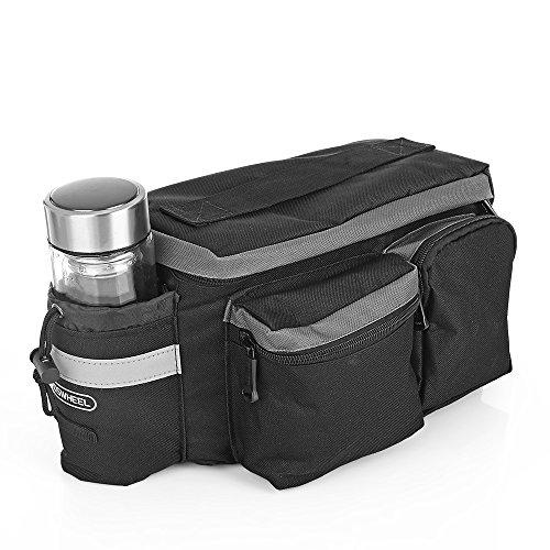 ROSWHEEL 6L Wasserdicht Fahrrad Sattelstütze für entworfen Korb Bike Panniers für die hinteren Gepäckträger der Fahrrad Mountain und Road Sitz Paket mit der Griff & Flasche Tasche