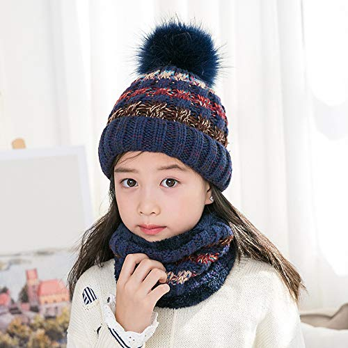 Amazon.com  Baby Hat Scarf Set Winter Thick Infant Toddler Knit Warm ... 35d32bd7949