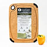 Cutting Board, TOPTIER Wood Fiber Cutting Board for Kitchen, BPA Free, Dishwasher Safe, Reversible, Juice Groove, Eco-Friendly, Non Porous, Natural Medium Cutting Board, 14.5 x 11-inch, Natural Slate