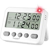 Temporizador de cocina doble temporizador digital para cocina, temporizador magnético de cuenta regresiva con segundos…