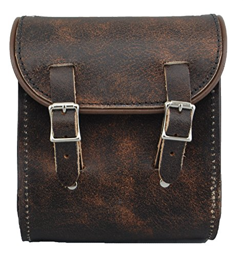 La Rosa Design Harley-Davidson Universal Leather Sissy Bar Bag Luggage - Rustic Brown Plain (Sissy Plain Bag Bar)