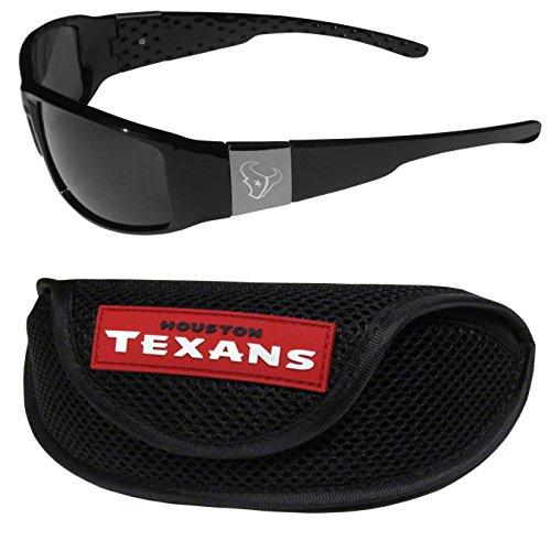 (NFL Houston Texans Chrome Wrap Sunglasses & Sports Case)