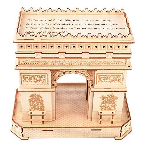 [해외]Puzzle Game 3D Wooden Puzzle 3D Puzzles Architecture Building Model Kits Toys for Adults (Color : Picture Color Size : 24.7x15.1x22.5cm) / Puzzle Game 3D Wooden Puzzle, 3D Puzzles Architecture Building Model Kits Toys for Adults (C...