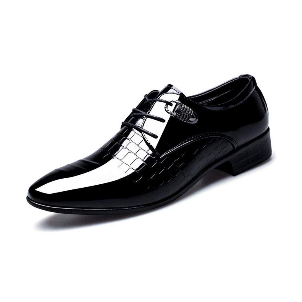 FuweiEncore Herrenschuhe Leder Spring Herbst Formale Schuhe Spitz Business-Schuhe Lace up Gentleman   Hochzeit Party & Abend (Farbe   Schwarz, Größe   46) (Farbe   Schwarz, Größe   37)