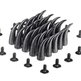 RUBYCA 20 sets 21mm Black Gunmetal Cat Claw Studs and Spikes Metal Screw Back Leather-craft DIY