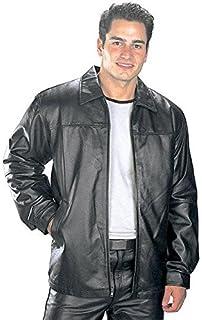 Amazon.com: USA Leather Classic Mens Leather Bomber Jacket: Sports ...
