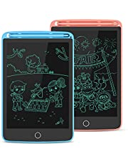 """LCD Schrijven Tablet 2-Pack, Beste Gift Doodle Tekenbord en Schrijf Board voor Kinderen en Volwassenen, eWriter Grafische Tekening Tablet Draagbare Doodle Pad voor Kantoor, School, Thuis (Bule & Roze, 8.5"""")"""