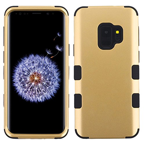 MyBat Cell Phone Case for Samsung Galaxy S9 - Gold/Black Solid