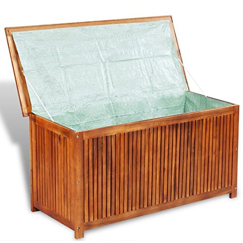 outdoor wood storage bench - 5