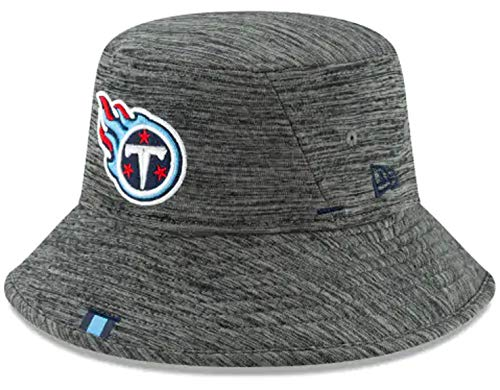 (New Era Tennessee Titans NFL 2019 Training Camp Bucket One Size Fits Most Cap Hat Graphite - Tennessee Titans,Graphite)
