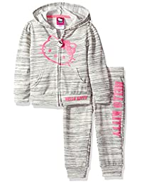 Hello Kitty girls 2 Piece Hooded Active Set With Lurex French Terry