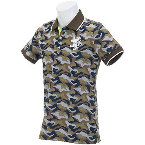 アドミラル Admiral 半袖シャツ?ポロシャツ カモフラージュ 半袖ポロシャツ カーキ 65 M
