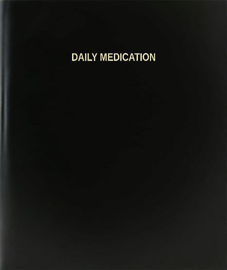 amazon com bookfactory daily medication log book journal
