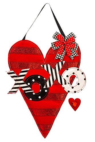 Evergreen Valentine's Heart Outdoor Safe Felt Door Decor (Valentine Home Decorations)