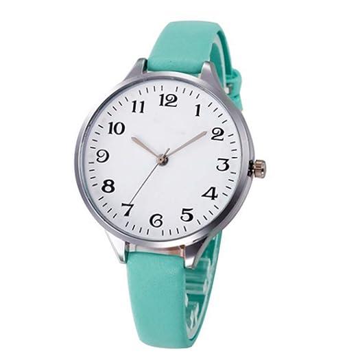 Reloj De Cuarzo De Cuero De La PU para Mujer Reloj De Cuarzo De Cuero De