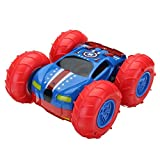 RC Car - REALACC Double-Sided 360 Flip Stunt Cars - Rechargeable Remote Control Car High Speed 1 18 Scale Toy Car with 2.4 GHz Transmitter Gift for Kids and Adults