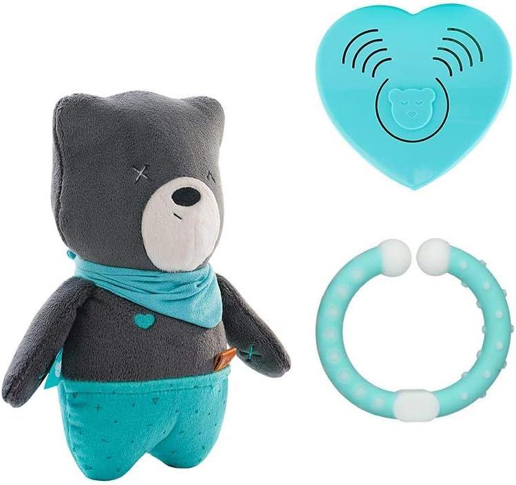 Herzschlag und wei/ßes Rauschen zur Beruhigung myHummy Baby Einschlafhilfe Ger/äusche B/är Matt grau Sleep Aid White Noise Sound Bear for Baby Automatische Abschaltung