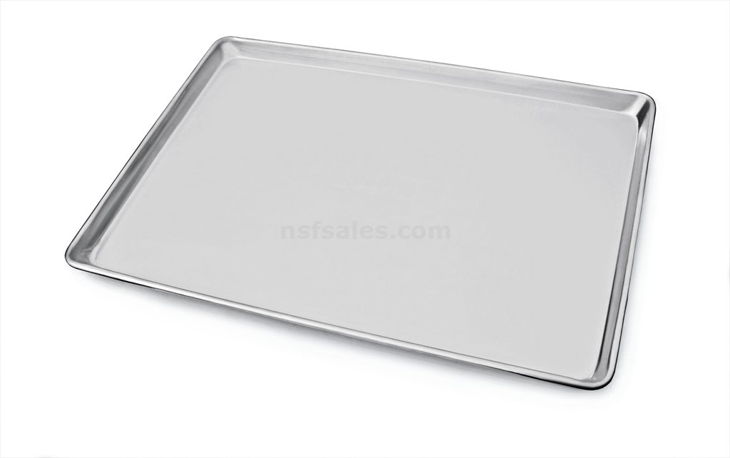 New Star Foodservice 36862 Commercial 18-Gauge Aluminum Sheet Pan, 13 x 18 x 1 inch (Half Size)