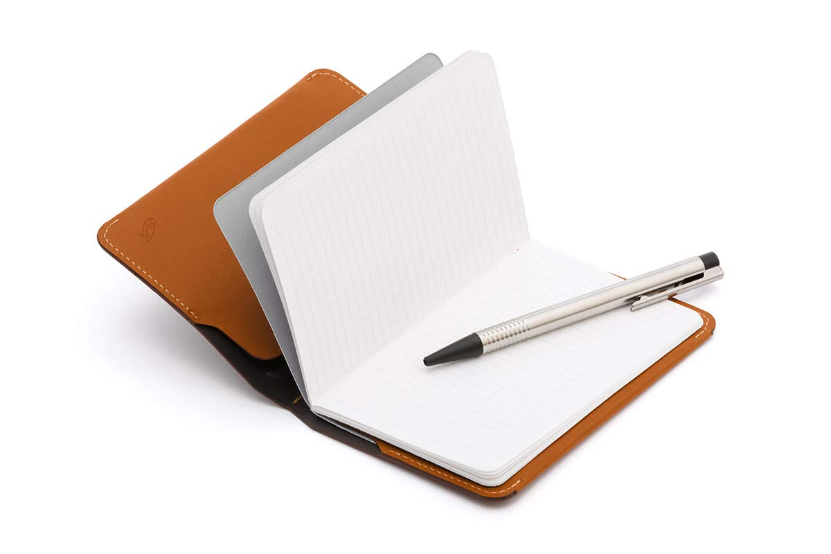 Cartera de piel Bellroy para hombre Notebook Cover Mini, Caramel: Amazon.es: Oficina y papelería