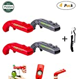 wine and beer bottle opener - Bottle Opener, CGBOOM 4 Pack Cap Gun Launcher Shooter Beer Bottle Opener with One Bonus Corkscrew Wine Opener for Home Bar Party Drinking Game