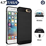 Qi Wireless Charging Case for iPhone 7 6 6S (4.7' Screen Size), Angeliox Wireless Charger Receiver [3rd Generation] Shockproof Protective Back Cover-Not Battery