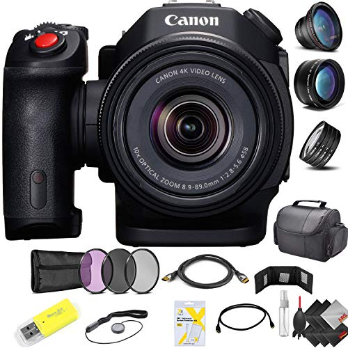 Canon XC15 4K Professional Camcorder + (2) 128GB Cfast Memory Cards Professional Kit