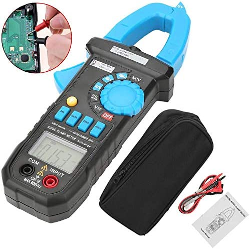 Yadianna ACデジタルクランプメーター、ACM03プラス4000のカウントデジタルDC電圧電流クランプメータ容量周波数テスターデジタルメーターDC / AC診断マルチクリップ