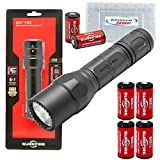 Surefire G2X Pro 600 Lumen Dual-Outputs LED Flashlight with 4 Extra CR123A Batteries and Alliance Gadget Battery Case