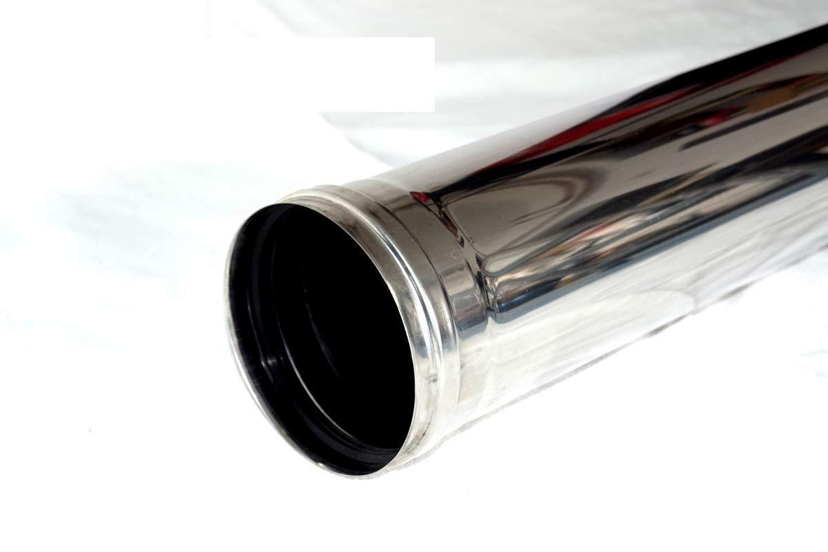 Juego de tubos de humo acero inoxidable 80 mm chimenea Horno ...