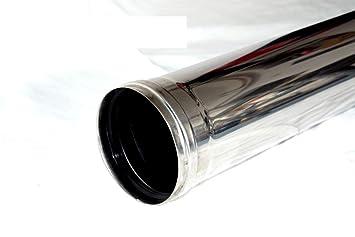Juego de tubos de humo acero inoxidable 80 mm chimenea Horno Tubo Pellet Horno pellets Horno: Amazon.es: Hogar