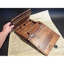 Antique Style Wood Folding Travel Writing Lap Desk